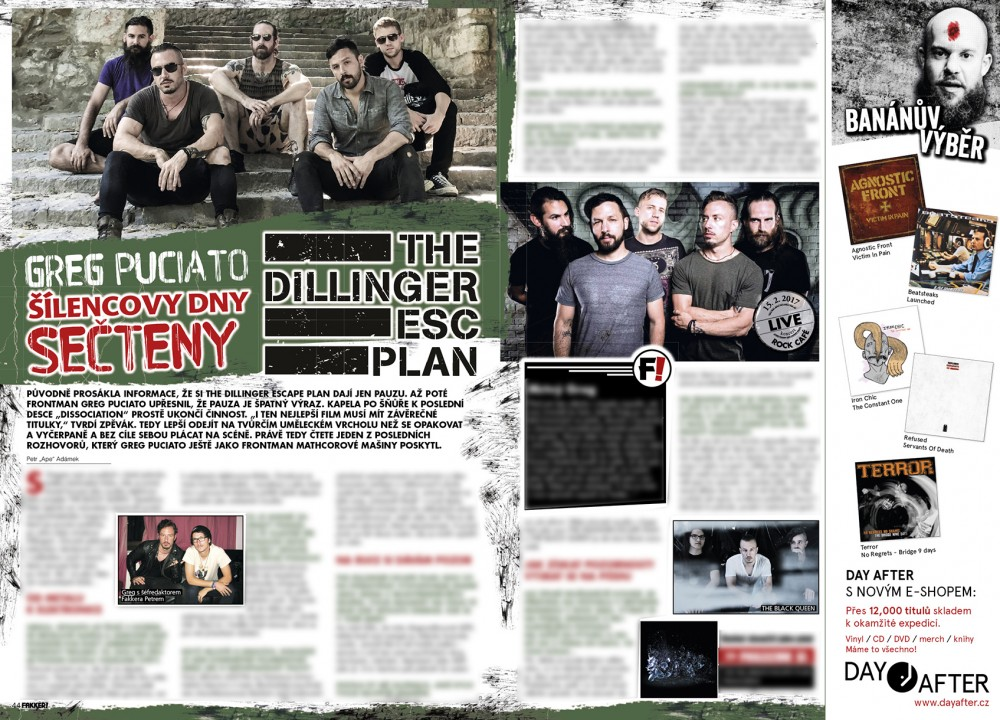 The Dillinger Escape Plan F!