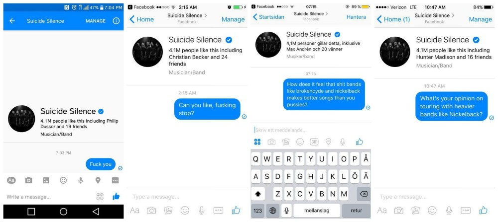 Suicide Silence hate collage