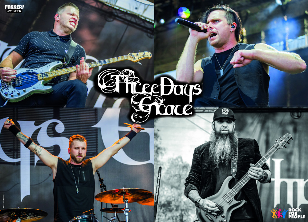 Three Days Grace F! poster