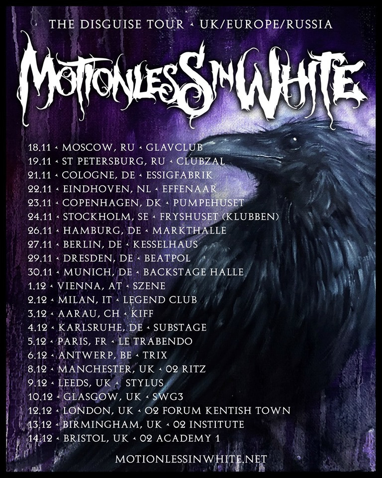 Motionless In White tour